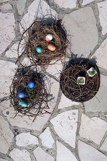 Schon eine Idee für DIY Osternester? Schönes aus Haselruten!